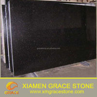 Indian Low price black galaxy 2 cm /3cm granite slab
