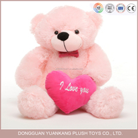 25cm Valentine teddy bear plush toy with love heart