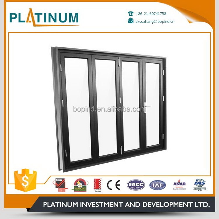 Factory outlet exterior house decorative accordion folding doors