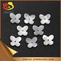 Butterfly shaped mother of pearls slices beads made of natural stone with hole