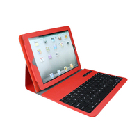 Leather Case with Removable Wireless Bluetooth Keyboard for pc laptop and smartphones