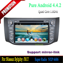 Android Car dvd player with GPS Navigation ROM 16G support OBD2 for Nissan Sylphy/B17 2012-2014 Android 4.4 quad core
