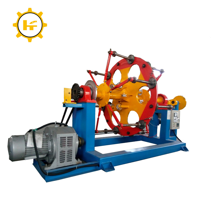 6+12+18/500 planetary disc type twist back wire rope twisting stranding machine cable making equipment