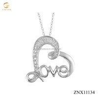 Infinity love heart pendant necklace 925 sterling silver romantic silver jewelry hot sale