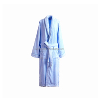 Cotton terry cutting velvet hotel bathrobe for wholesales