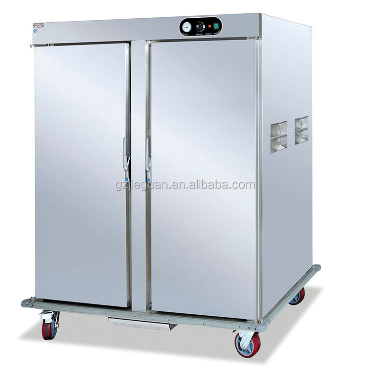 2 door mobile electric Food Warmer Cart with cabinet DH-11-22