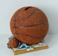Personalized Custom PVC Money Box Basketball Ball, Plastic Basketball Ball Piggy Bank Making,Custom money box