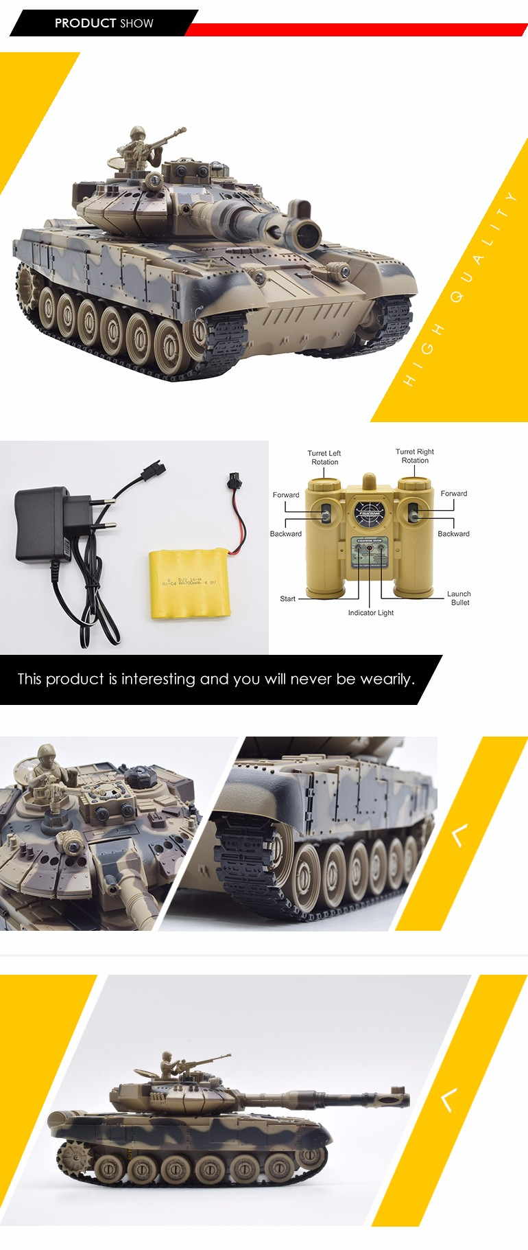 custom simulation fighting 9CH 1:28 scale rc tank tracks with multifunction