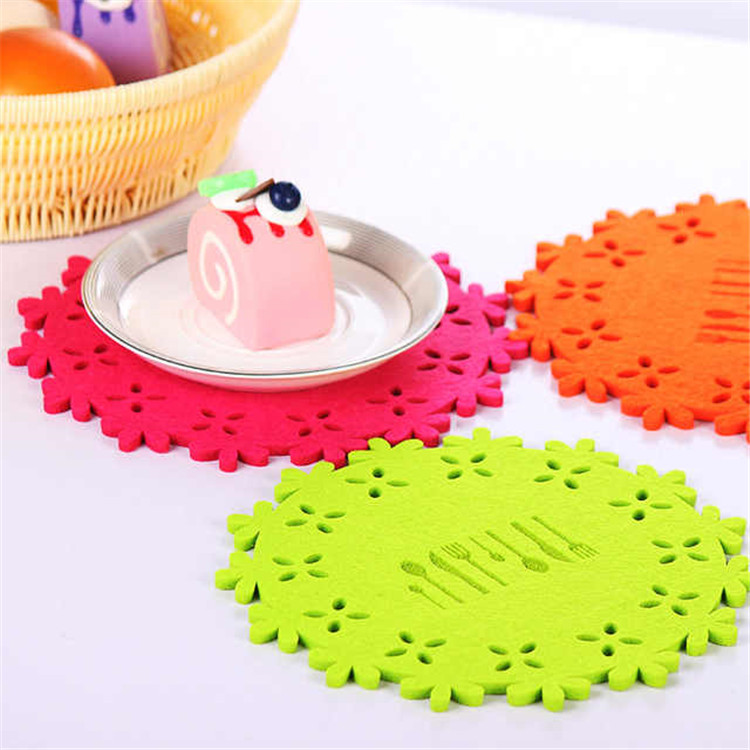Hot sell wool / polyester felt cup coaster