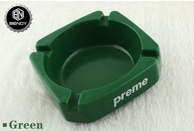 New Arrival Customer-Logo Modern Resin Smoking Cigar Ashtray for BAR KTV or Hotel Use