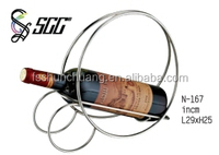 Hot Sale Round Wine Rack For One Wine Bottle / Red Wine Cradle For Table