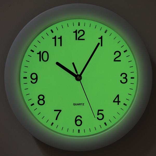 light sensor wall clock round clock luminous clock view