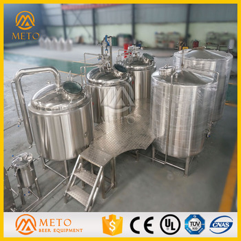 Industrial factory produce mahine making beer carefully craft beer making machine