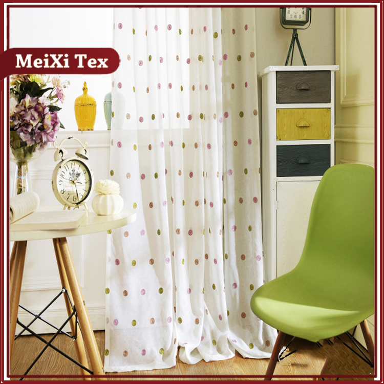 free sample offered franch elegant home classics curtains,embroidered line curtain
