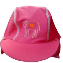 Girls Sun Visor UV Protective Beach Safari Swim Flap Hat PINK for kids aged 2-8yrs