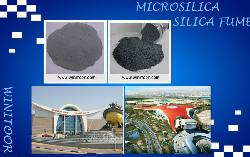 Microsilica/ silika fume/silika powder for high alumina cement concrete