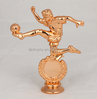 Customized soccer player action figure on trophies
