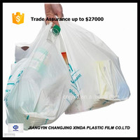 eco friendly biodegradable plastic t shirt bag fruit packing bag for supermarket/grocery