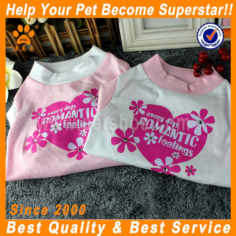 JML 2014 New design low price plain color pet clothes