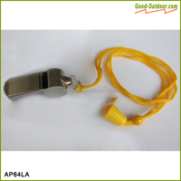 Loudly Voice Lanyard Brass Police Whistle