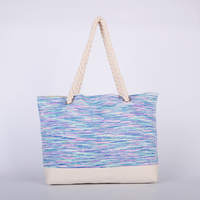 Summer Canvas Women Beach Bag Fashion handbags shoulder bag big size for ladies Casual Shopping Bags