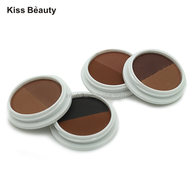 New Arrivals Brand Kiss Beauty Professional Cosmetics 2 Colors Waterproof Eyebrow Cake Powder Palette Eyeshadow Eye Brow Makeup