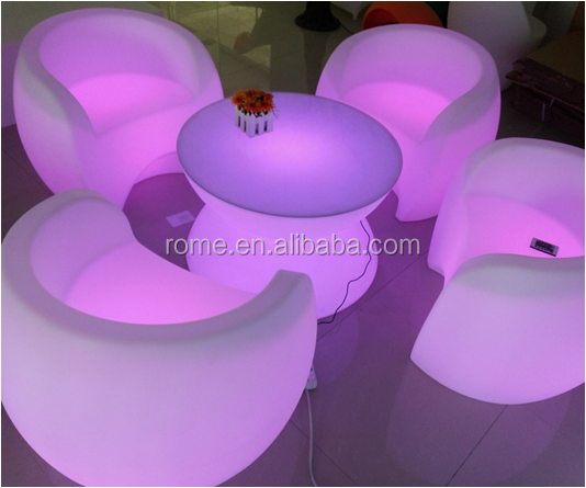 led illuminated furniture / led banquet chair / living room sofa set