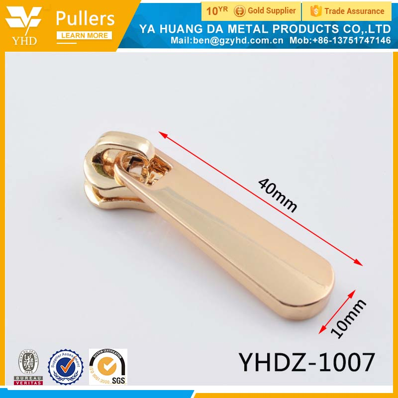 different types of zipper head puller factory
