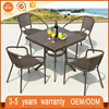Manufacturer Supply Rattan Round Garden Set Cane Outdoor Furniture