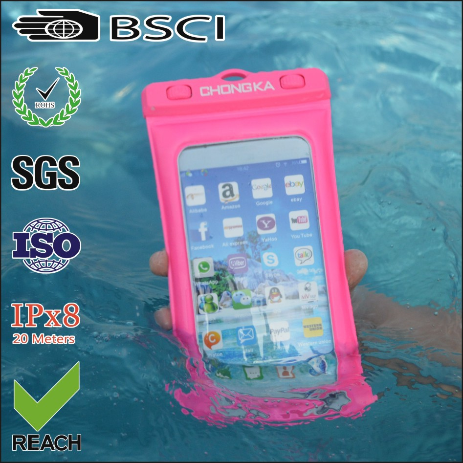 pvc mobile phone waterproof phone case for samsung galaxy note 3