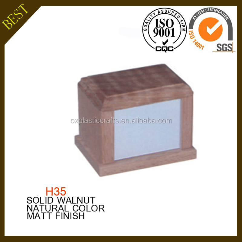 wholesale funeral equipment Photo Frame solid Wooden Pet Cremation urns
