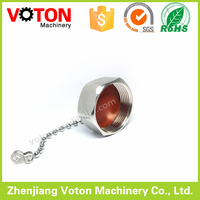 L29 Din 7/16 male dust cap with chain
