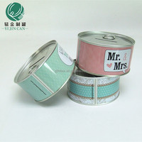 customizing round easy-opened lid metal money welding boxes