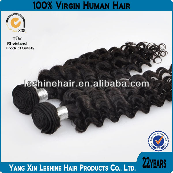 100%human natural color best quality wholesale factory price free shedding virgin European human deep wave hair