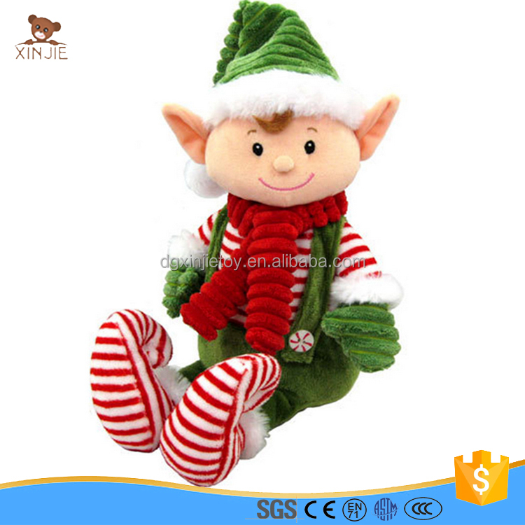 CE standard soft christmas elf plush toy for gift