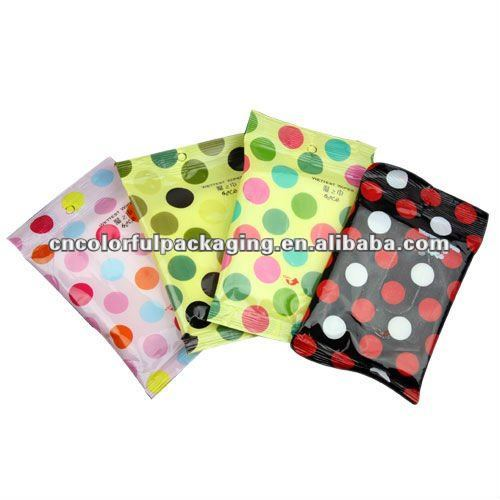 Good quality wet wipes Gusset OPP/PE plastic packaging bags with custom printing