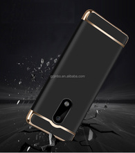 New selling 3 in 1 aluminium alloy electroplate wire drawing phone case cover for iphone Nokia 6 phone case for iphone 7/7plus