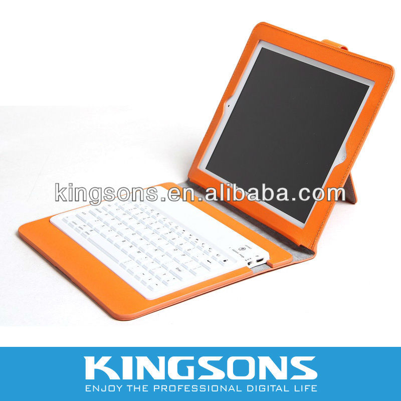 For IPAD 3 Case With Wireless Bluetooth Keyboard for New IPad, Ipad 2