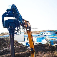 BEIYI pile foundation machine vibro hammer with precast concrete clamp
