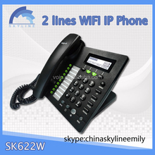 hot office phone wifi sip phone 2lines wifi desktop phone with clear vice