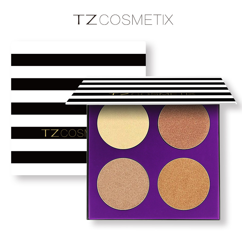 Make your own palette TZ 4colors high-pigment makeup glow kit