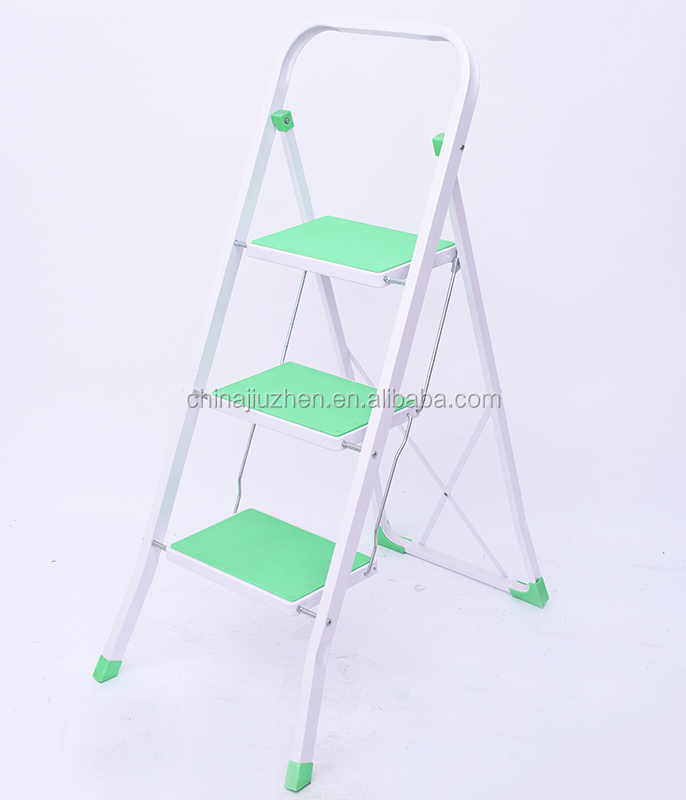 folding steel ladder, steps ladder, steel structured steel ladder with lock buckle