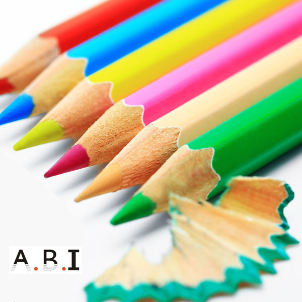 3.5 inch wooden sharpened promotion kids nature Color Pencil set