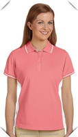 high quality 100% polyester pique with Dri-fit Advantage moisture management fabric Women's golf sports Polo Shirt