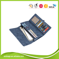 Promotional custom size pu leather wallet for ladies