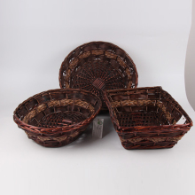 Xmas gifts and food baskets chipwood wicker plate