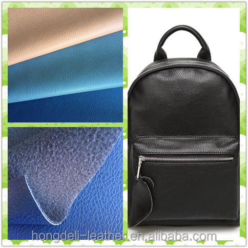 Emboss synthetic pu leather for shoes&bags, bag making material pu coated fabric