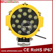Yellow 7 inch 51W led work light Driving 12v Car 4x4 accessories