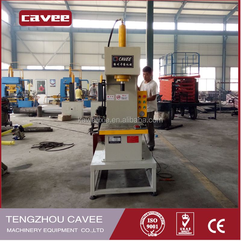 good price C type hydraulic press machine for wire rope sling