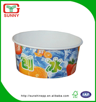 Flexible Printing Disposable Double PE Coated Paper Ice Cream Cup